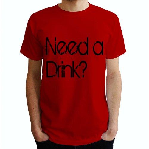 Need a Drink? Herren T-Shirt Rot