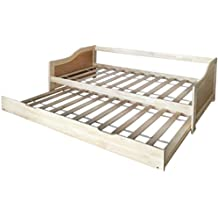 vidaXL Sofá cama / diván de madera de pino ...