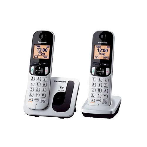Panasonic KX-TGC212 - Kit 2 Teléfonos Fijos Inalámbricos