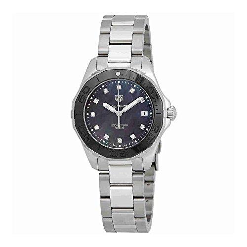 TAG Heuer Aquaracer Negro Madre de Perla Diamante Dial Damas Reloj way131m. ba0748