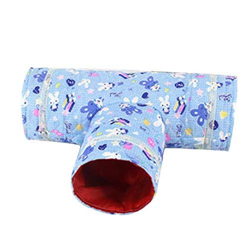 Delleu Katzentunnel Spielzeug 3 Weg Zusammenklappbare Kleintier Spiel Tunnel Spielzeug Hamster Chinchillas Mäuse Ratten