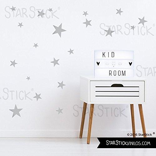 StarStick - 50 Estrellas Plateadas - Vinilo estrellas decorativas - 50 estrellas