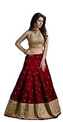 Vaankosh Fashion Women's Cotton Silk Lehenga Choli (v-m booti_maroon)