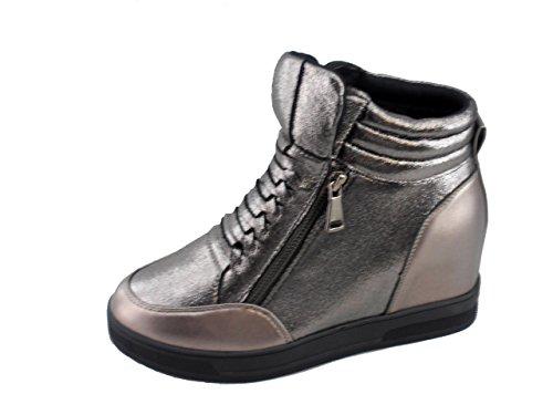 Rebelde , Damen Sneaker Bleifarben