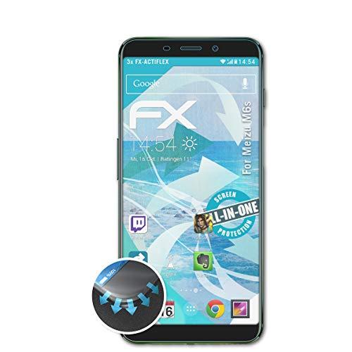 atFolix Schutzfolie passend für Meizu M6s Folie, ultraklare und Flexible FX Displayschutzfolie (3X)