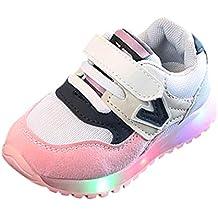 Zapatillas para Niños LED Lights,ZARLLE Zapatos de bebé Cuna Suela Blanda Antideslizante Zapatillas Niño