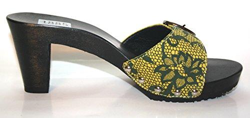 Berkemann - Pantofole Donna Nero (giallo)