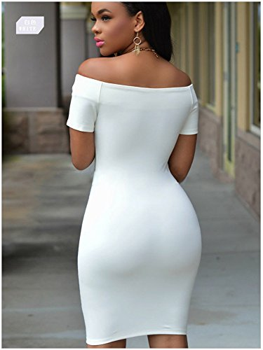 KingField - Robe - Moulante - Femme Blanc - Blanc