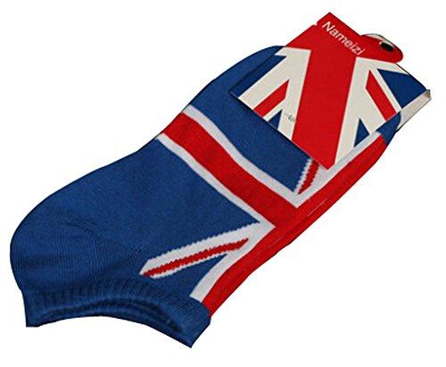Lot de 2 Flag chaussettes en coton chaussettes pour hommes Blanc Angleterre