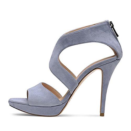 ... Evita Shoes Valeria Damen Sandalette Rauleder Hellblau ...