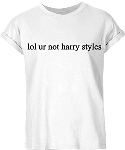 New Unisex Lol Ur Not Harry Styles T Shirt Top One Direction 1D (L/Groß: 14-16, WHITE/Weiß)