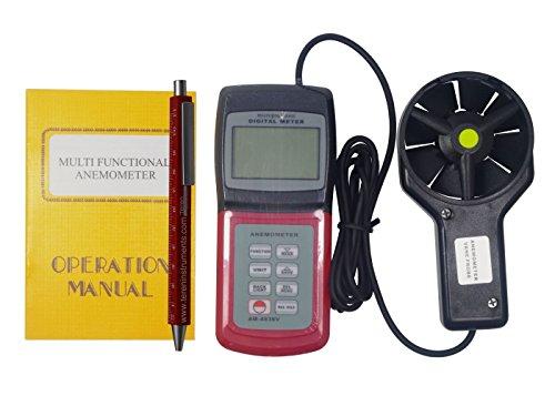 teren-am-4836V Anemometer Wind Speed Meter Air Velocity Temperatur Richtung Gauge -