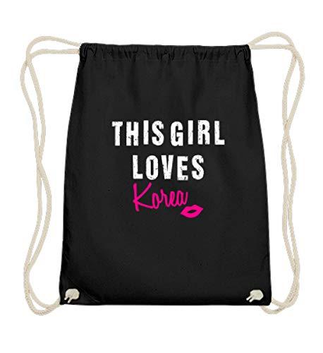 Korea Girl (Kleidungskulisse This Girl Loves Korea Kpop Koreanische Musik Pop Hangul Koreareise Geschenkidee Südkorea - Baumwoll Gymsac)