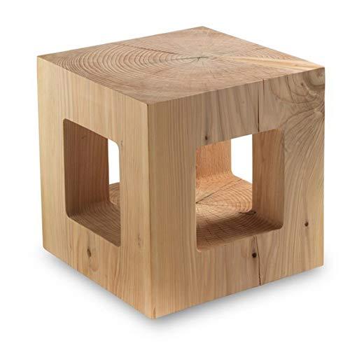 ZHAOYONGLI Hocker Holz Short Bar Zähler High Hocker Log Holzpier Holzbank Hocker Stumpf Bench Stump Creative Stark Dauerhaft Lange Lebensdauer (größe : 35 * 35 * 35cm) -