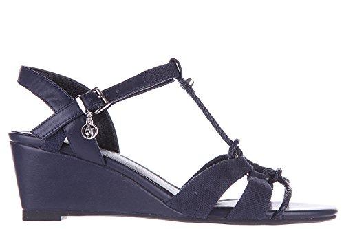 Armani Jeans zeppe sandali donna originale blu EU 37 C5714 14 G8