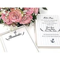 Hochzeit Geschenk Brautvater - Stofftaschentuch für Freudentränen Vater der Braut