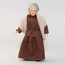 MiniMundus Oma im braunen Kleid