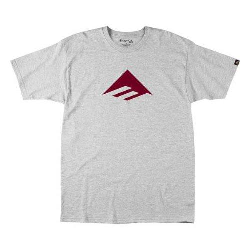 Emerica Kinder T-Shirt Youths Triangle 7.0 Basic, Grey/red, L, EMEYTSS_TRI7 -