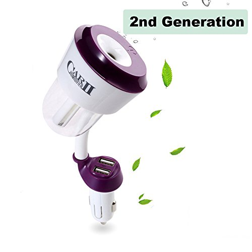 New Generation 2 in 1 Car Humidifier+ Dual USB Port