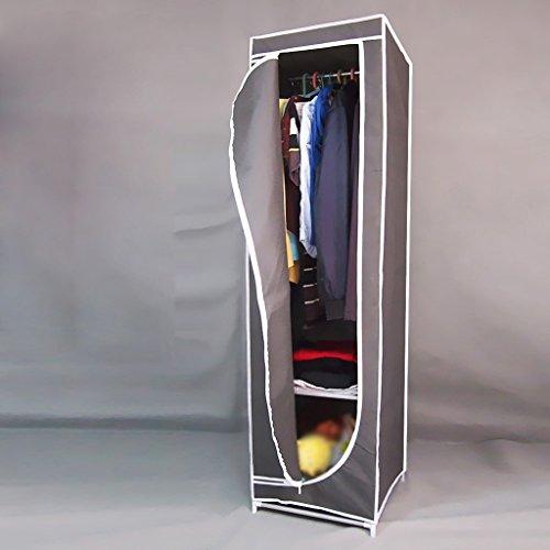 MMM& Simple Petits Dortoirs Tissus Armoire Tissu Pliant Cadre en Acier Armoires Armoires renforcées (couleur : Gray)