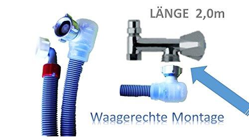 Aquastop Schlauch/Aquastop/Sicherheitszulaufschlauch für Waschmaschine und Geschirrspüler 3/4 Zoll