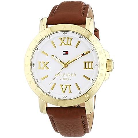 Tommy Hilfiger Watches LIV - Reloj Analógico de Cuarzo para Mujer, correa de Cuero color Marrón