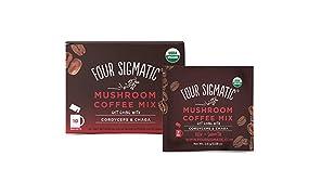 Four Sigmatic Foods Mushroom Coffee Mix with Cordyceps and Chaga 10 Sachets, 30 g