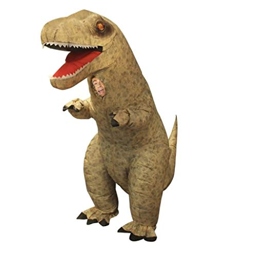 Morph MCUID Riesen Aufblasbares Kostüm, T-Rex, One Size