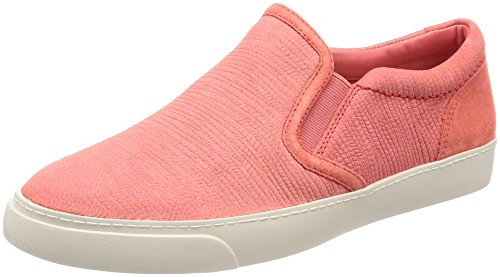 Clarks Damen Glove Puppet Slipper, Orange (Coral Nubuck), 41 EU