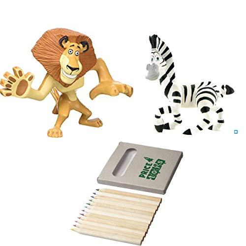 (Price Toys Madagaskar Mini Figur Spielzeug - Alex, Marty, König Julien und die Pinguine (Alex / Marty))