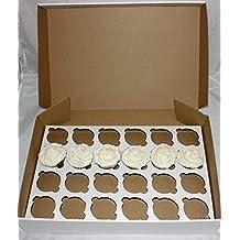 Sugar Brick Road Caja para Cupcakes de Color Blanco con Capacidad para 24 Tartas