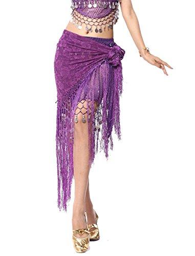 Tanzen Accessories Triangle Gürtel Kostüm Bauchtanz Hüfttuch Rock Lace Tassels (Bauchtänzerinnen Kostüm Arabische)