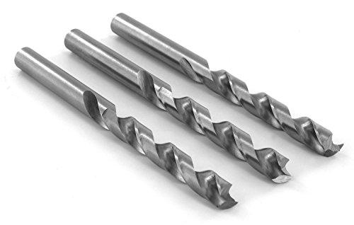 ENT DURADRILL Holzbohrer im 3er Pack Ø 8 mm HSS-G mit Zentrierspitze und Vorschneider D8 x NL73 x GL118 mm - geschliffene Premium Holzspiralbohrer