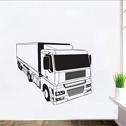 Txyang High Quality Semi Truck Personality Wall Decals Art Design Large Murals Bedroom Kids Wall Decor Removable Wall Decal Sticker70X58Cm