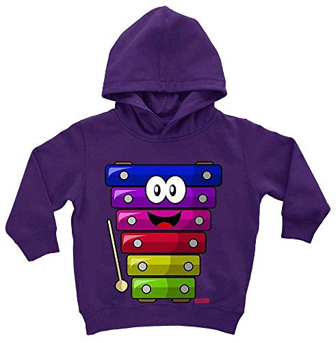HARIZ Baby Hoodie Xylophon Lachend Instrument Kind Witizg Plus Geschenkkarte Sternenstaub Lila 1-2 Jahre