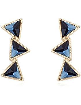 Orecchini In Vetro Triangolo In Geometria Placcata Oro,MelanBlue