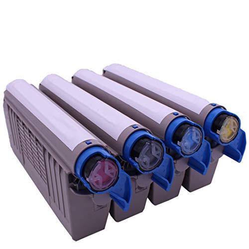 MALPYQA Kompatibel mit der Tonerpatrone OKIC711, geeignet für den Toner des medizinischen Farblaserdruckers C710DN,4Colors -