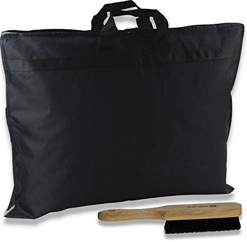 Anzugtasche inklusive Rosshaar Pflegebürste mit riesigen Innentaschen | Kleidersack | Transporttasche Kleidertasche Business Reisen Kleiderhülle Anzughülle Anzugsack Anzugkoffer (Flug Anzug)