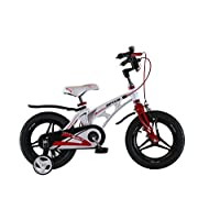 Upten Unisex Child Robot Mechanical Rim Bicycle - White, 18 Inch