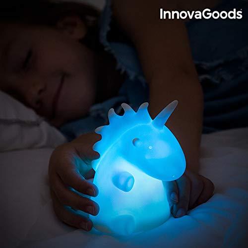 InnovaGoods Lámpara Unicornio Multicolor LEDicorn, Blanco, Unitalla