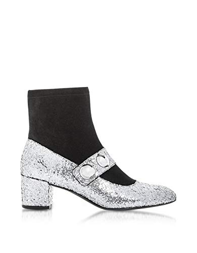 Marc Jacobs Damen M9001989066 Silber PVC Stiefeletten