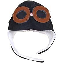 Amazon.es  gorros de aviador niño - Negro d34ff93e566