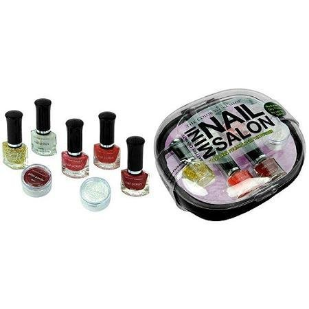 The Color Workshop Mini Nail Salon Kit, Black, 8 Pc by The Color Workshop