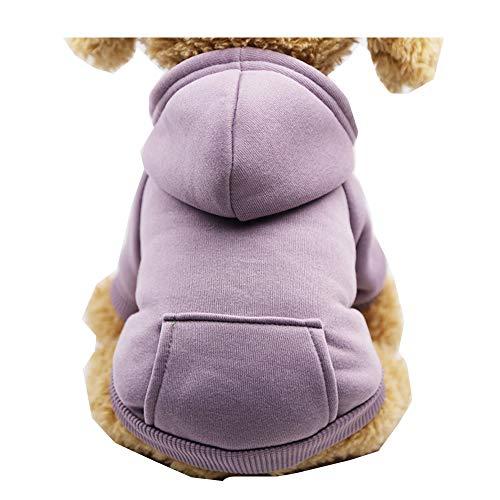 Morbuy Hund Katzen Welpe Kostüm Kapuzenpullis, Haustiere Pullover Sweater Schneeflocke Halloween Haustier Kostüme Nettes Cosplay für Kleine Katzen Welpen (Kostüm Minion Lila Hund)
