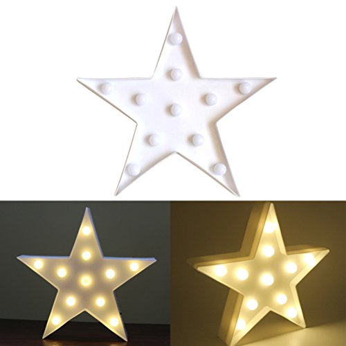 LEDMOMO 11 LEDs en forma de estrella de luz LED de la lámpara de la noche de luz de la batería operado para la decoración de la boda de la boda de Navidad Inicio