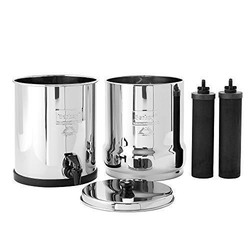 Berkey BK4X2-BB Big Berkey Stainless Steel Water Filtration System with 2 Black Filter Elements by Berkey