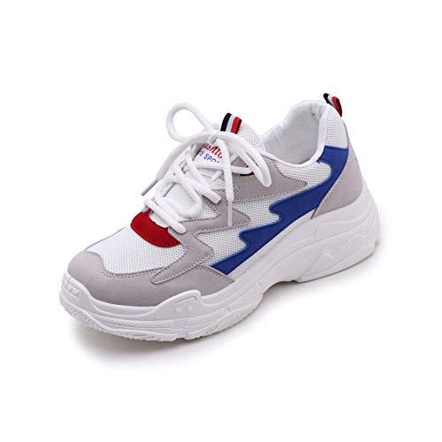 Vansney Donna Chunky Sneakers Sportive Scarpe Comodo Casual Antiscivolo Traspirante e Leggero per Camminata Corsa Trail Running Ciclismo Badminton Cheerleader Fitness
