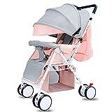 CDREAM Kinderwagen Leichter Buggy mit Sonnenverdeck Safety 1st Kompakter,C-Pink-Grey