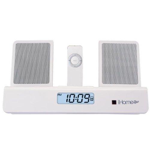 SDI iHome 2go iH26 Tragbarer Wecker und Sound-System für iPods weiß