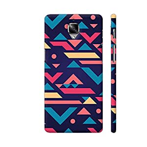 Colorpur Modern Ethnic Pattern in Purple Printed Back Case Cover for OnePlus 3T
